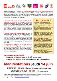 Exigeons L Annulation De La Hausse De La C S G Manifestons Jeudi 14